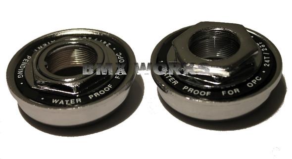 American 1 Piece Crank  Bottom Bracket Set 24 tpi W/Proof Chrome