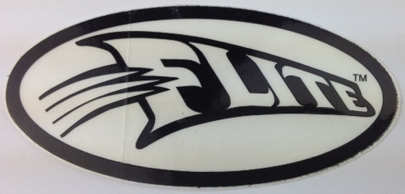 Flite Swoosh Decal - Black on White