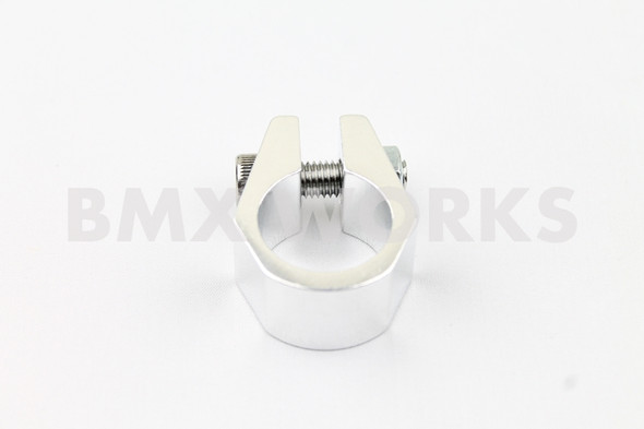 Tuf Neck Style BMX Seat Post Clamp 25.4mm Silver