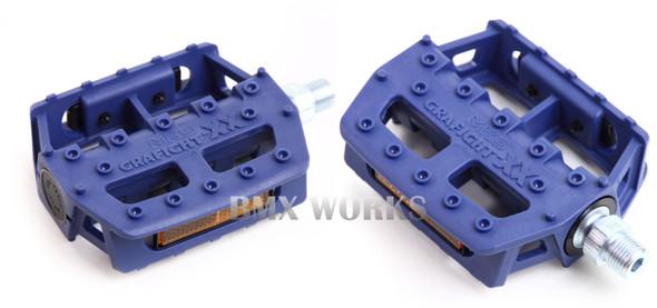 "MKS Graphite XX 9/16"" Pedals Blue"