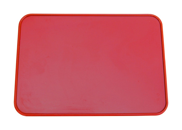 Neal Enterprises Retangle Number Plate Red