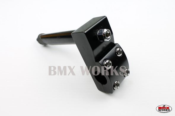 ProBMX Stem 21.1mm Quill - Suit 22.2 Bars - No Logo - Black