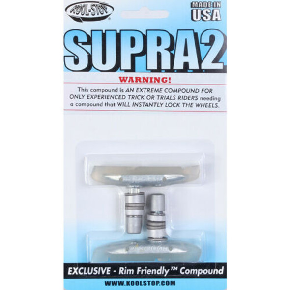 Kool Stop Supra 2 Threaded Brake Pads Clear - Sold In Pairs