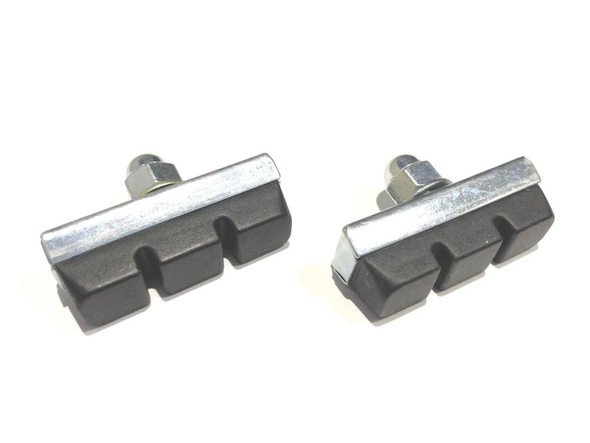 Brake Pad Genuine Dia-Compe Silver with Black Pad Pairs
