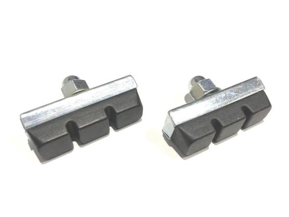 Brake Pad Genuine Dia-Compe Silver with Black Pad Pairs
