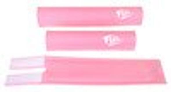 FLITE 3 Piece Nylon BMX Padset - 80's Logo Pink & White