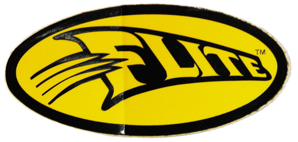 Flite Swoosh Decal - Black on Yellow