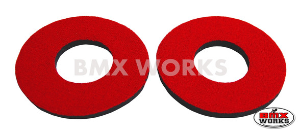 ProBMX Flite Style BMX Bicycle Foam Grip Donuts - Red Pairs