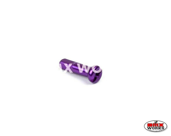 14G x 16mm Aluminium Spoke Nipples Purple - Each