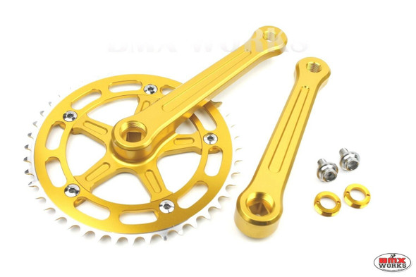 ProBMX 3 Piece Crank Set 170mm Gold