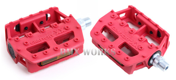 "MKS Graphite XX 1/2"" Pedals Red"