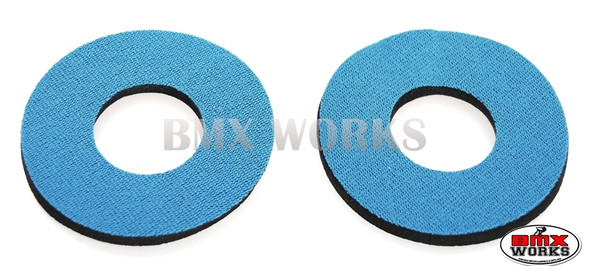 ProBMX Flite Style BMX Bicycle Foam Grip Donuts - Slate Blue Pairs