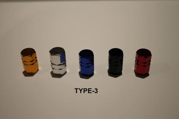 Valve Cap Type #3 Anodized Colours - 1 Pair