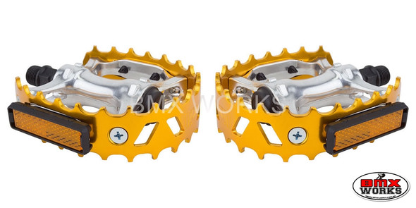 "Pedals 9/16"" VP Bear Trap Gold Pair"