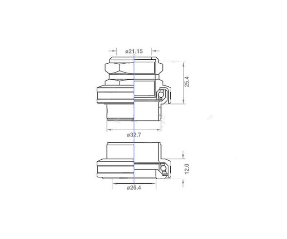 """ProBMX MX-125 Alloy BMX Headset 1"""" Threaded - Black"""