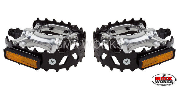 "Pedals 1/2"" VP Bear Trap Black Pair"