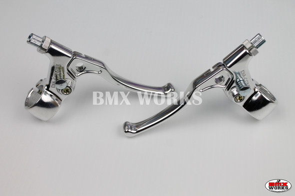 Dia-Compe Tech 5 MX183 Brake Lever Set Silver & Silver