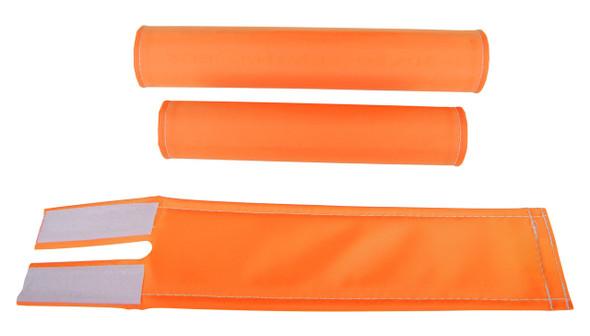 FLITE 3 Piece Nylon BMX Padset - No Logo Orange