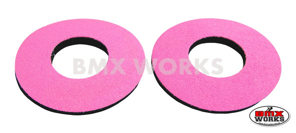 ProBMX Flite Style BMX Bicycle Foam Grip Donuts - Pink Pairs
