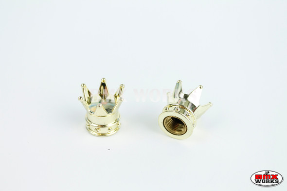 BMX Crown Valve Caps Pairs - Gold - Old School BMX