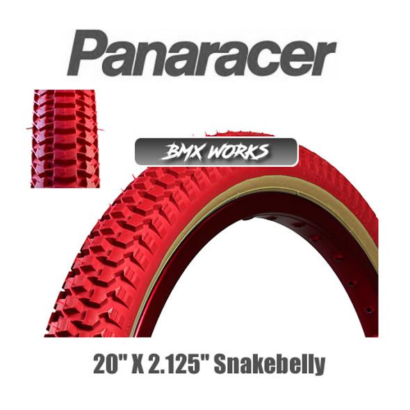 """Panaracer NTKK Snakebelly Tyre 20""""' x 2.125"""" Red"""