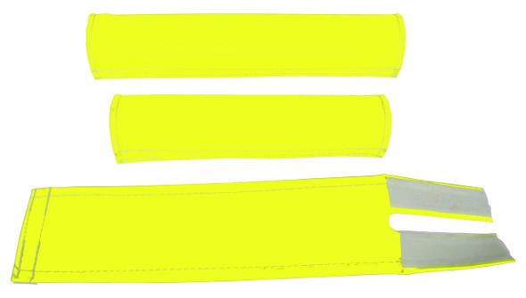 FLITE 3 Piece Nylon BMX Padset - No Logo Neon Yellow