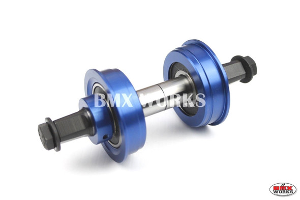 YST 3 Piece Crank Bottom Bracket Conv Kit Sealed Bearings Dark Blue