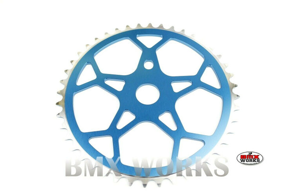 ProBMX Snowflake BMX Chainwheel 44 Teeth - Blue