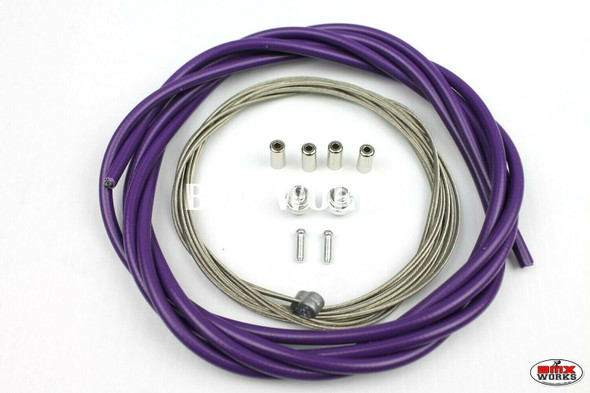 BMX Brake Cable Front & Rear Kit Purple