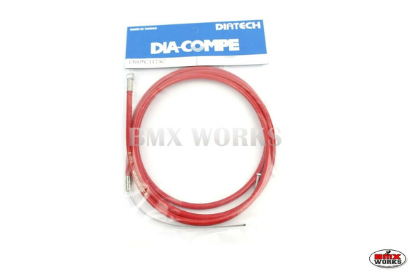 Dia-Compe BMX Logo Rear Brake Cable Red