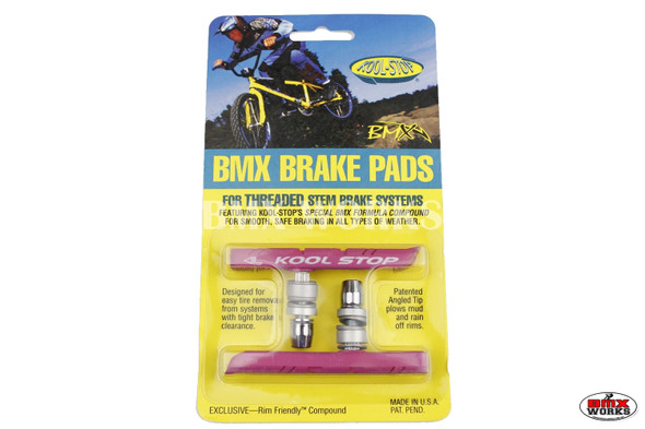 Kool Stop BMX Brake Pads Pink - Sold In Pairs