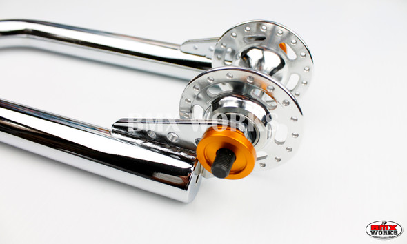 """ProBMX Alloy Front & Rear Set Dropout Savers for 3/8"""" Axles Gold"""