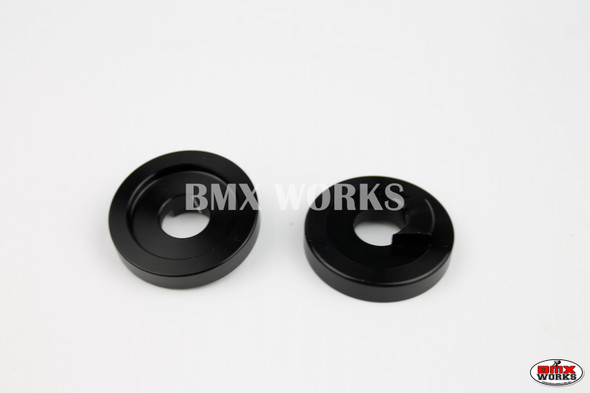 "ProBMX Alloy Front Dropout Savers for 3/8"" Axles Black Pair"