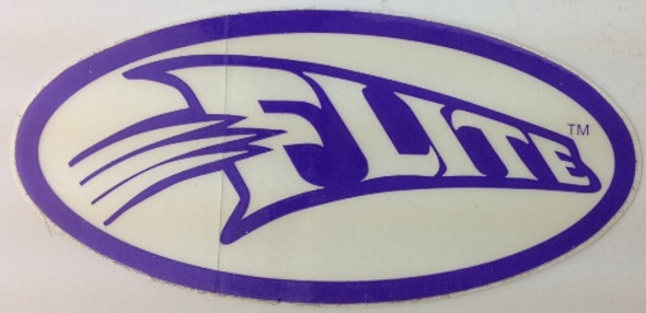 Flite Swoosh Decal - Purple on White