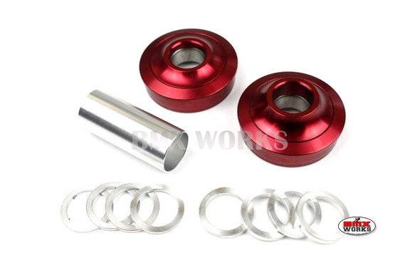 ProBMX American Bottom Bracket Suit 19mm Axle Red