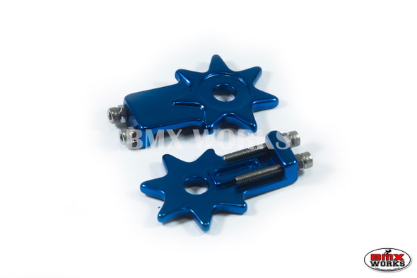 "Star Chain Tensioners Dark Blue Suit 3/8"" Axles (Pair)"