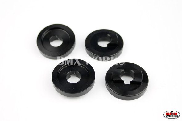 "ProBMX Alloy Front & Rear Set Dropout Savers for 3/8"" Axles Black"