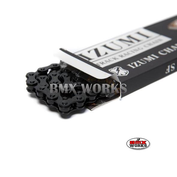 "Izumi Mash X 1/2"" x 1/8"" x 116 Link Jet Black with Black Bushing"