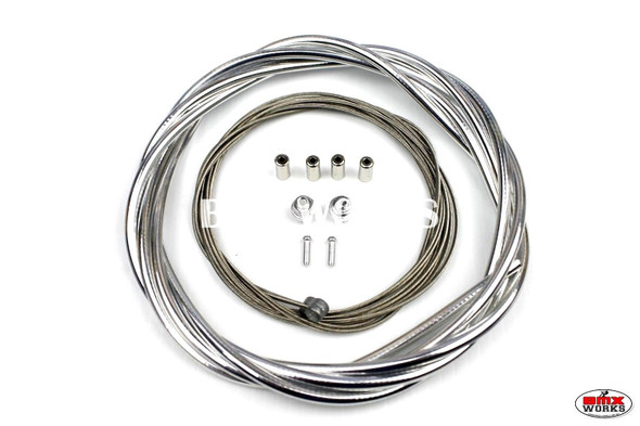 BMX Brake Cable Front & Rear Kit Chrome