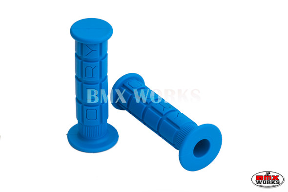 Oury Downhill or BMX Low Flange Grips - Pair - Blue