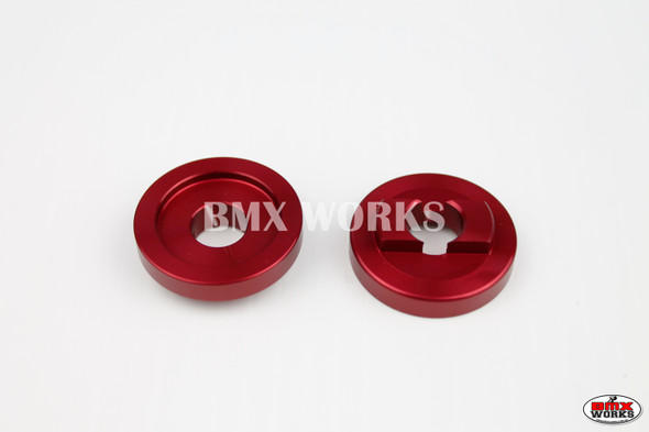 """ProBMX Alloy Rear Dropout Savers for 3/8"""" Axles Red Pair"""