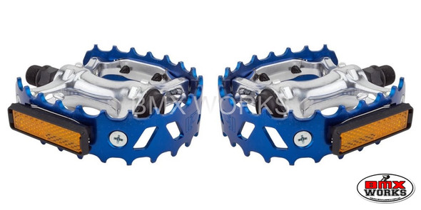 "Pedals 1/2"" VP Bear Trap Blue Pair"