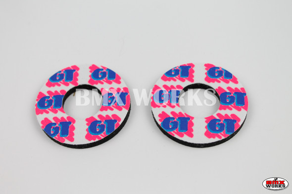 ProBMX Flite Style GT Freestyle White & 3 Colour Grip Donuts