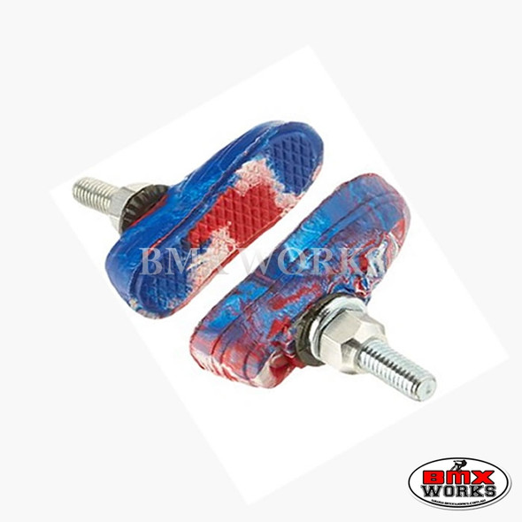 Kool Stop Vans Shoe Threaded Brake Pads - Pairs Swirl