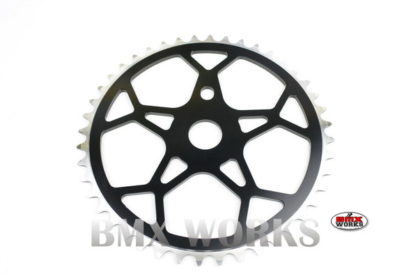 ProBMX Snowflake BMX Chainwheel 44 Teeth - Black