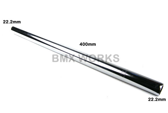 Steel Seat Post Straight 22.2mm x 400mm - Chrome