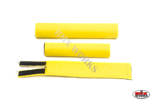 FLITE 3 Piece Nylon BMX Padset - No Logo Bright Yellow