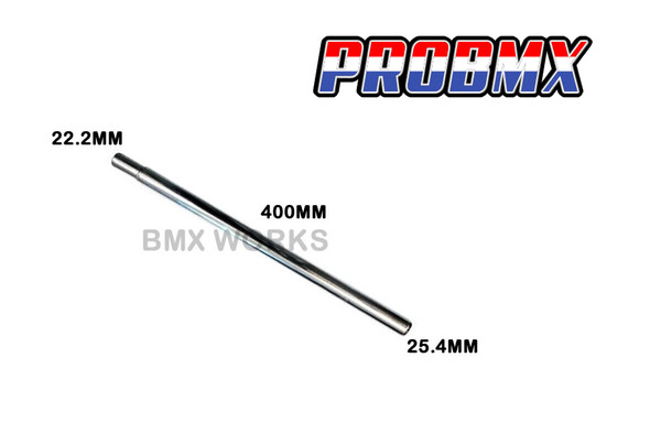 ProBMX Ch-Mo Seat Post Straight 25.4mm x 400mm - Chrome