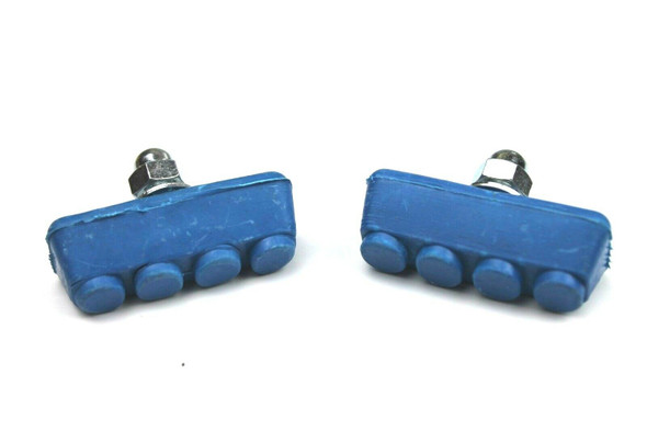 BMX Freestyle or Race Bicycle Brake Pads - Blue Pairs