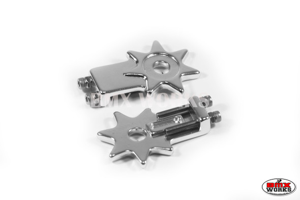 "Star Chain Tensioners Silver Suit 3/8"" Axles (Pair)"